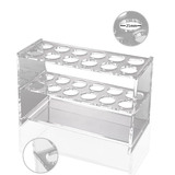 Clear Acrylic Test Tube Rack 12 Sockets fit for 25ml Tube