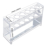 Clear Acrylic Test Tube Rack 6 Sockets fit for 25ml Tube